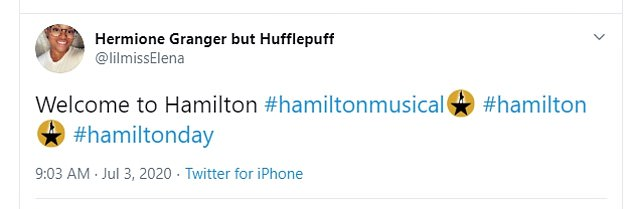Les utilisateurs de Twitter des deux côtés de l'Atlantique ont partagé leur enthousiasme de pouvoir regarder Hamilton