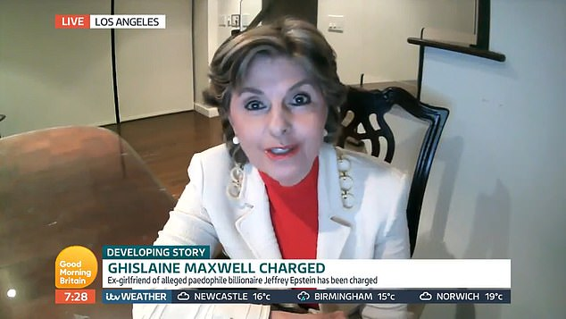 Lawyer Gloria Allred, who is representing some of Jeffrey Epstein's alleged victims, told ITV's Good Morning Britain today that the Duke of York is subjecting them to a 'torture test'