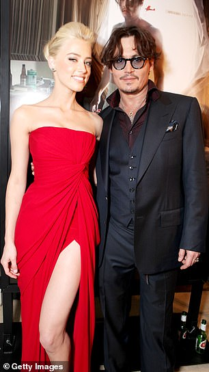 The film on which they met: Depp and Heard at the premiere of The Rum Diary in 2011