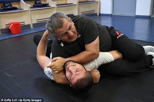 Khabib and his father were incredibly close and the fighter was trained from an early age