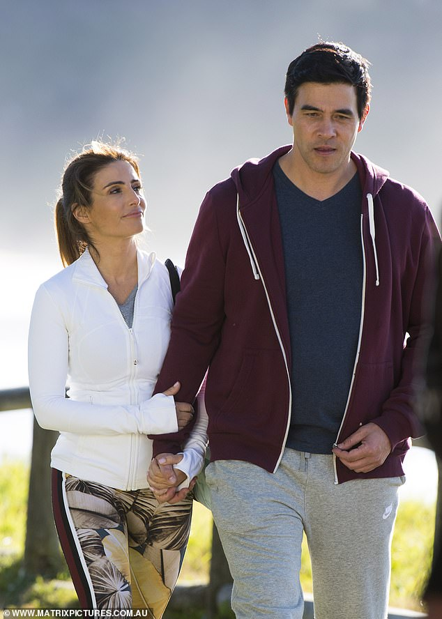 Back to it! On Tuesday, Home and Away's Ada Nicodemou joined co-star James Stewart on set while Sam Frost went for a run as they filmed scenes for the soap on Palm Beach