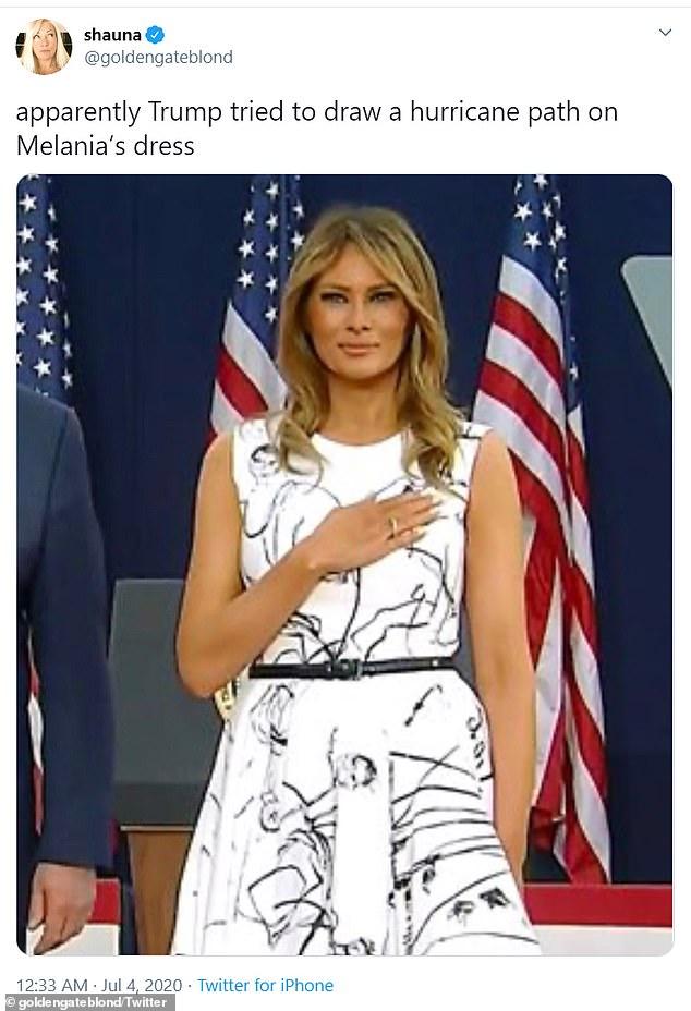 Social Media Mocks First Lady Melania Trump S 2 400 Alexander Mcqueen Dress Fr24 News English