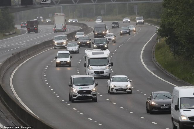 Traffic on the M25 motorway in Kent as 'Super Saturday' gets underway. It comes as booking websites report an increase in traffic, with Booking.com seeing a 'spike' in searches for domestic properties