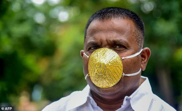 This man's golden mask will wow you