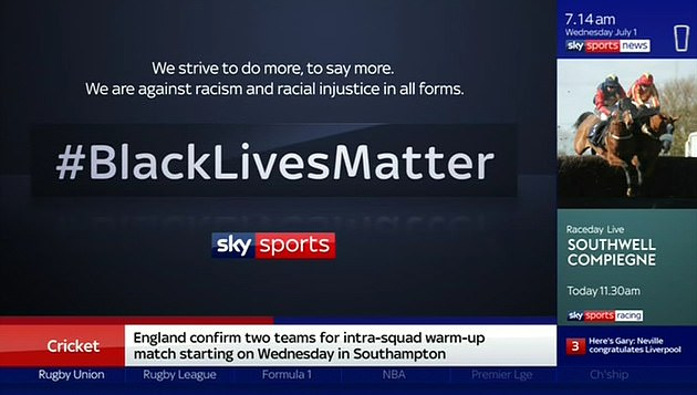 Sky Sports experts strike another blow at BLM as they drop all badges and  wear the Kick It Out logos | FR24 News English