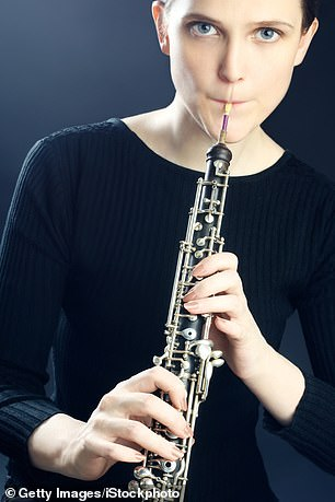 Learning to play a wind instrument could help the five million Britons blighted by the condition sleep apnoea (stock photo)