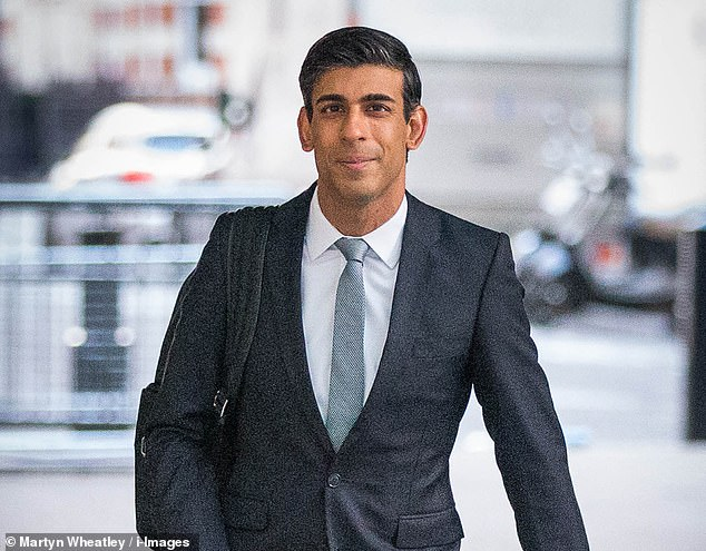 Chancellor Rishi Sunak (pictured) has been called upon to hand out £30 billion in vouchers to UK families to help boost high streets