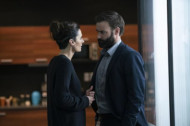 Role: The actor is best known for his role on the Australian series Offspring as Patrick Reid, but will soon be seen in season three of the Amazon thriller, Absentia (pictured in Absentia)