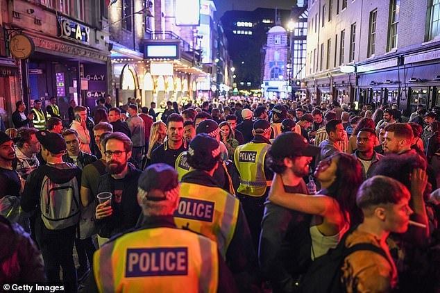 LONDON:Adherence to the government's one-metre plus rule quickly evaporated in the most vibrant areas, such as Soho in London which became 'out of control' as thousands spilled on to the streets