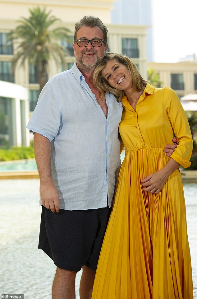Awake:Kate Garraway's husband Derek Draper has woken from his coma [pictured last year]