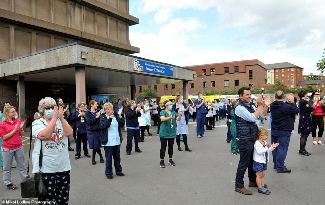Clap of Claps for the NHS to celebrate their 72nd anniversary at Gloucestershire Royal Hospital this evening