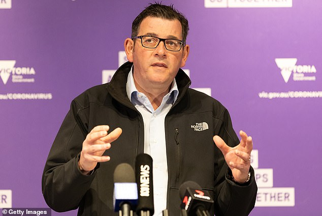 Premier Andrews locked the doors to nine public housing towers from 4pm on Saturday amid fears the virus is spreading rapidly within their walls