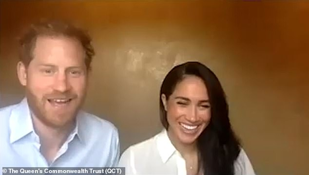 The Duke of Sussex was criticised by some last month after saying the Commonwealth needs to follow others who have 'acknowledged the past'  as he joined wife Meghan for a video call with young leaders from the Queen's Commonwealth Trust