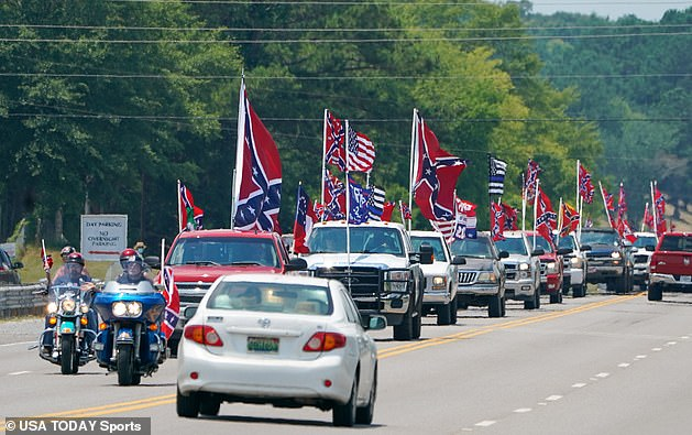 Bubba Wallace successfully pushed NASCAR to ban the Confederate flag at its venues. After it decided to, disgruntled fans with Confederate flags drove past the main entrance to the Alabama with the flag on display