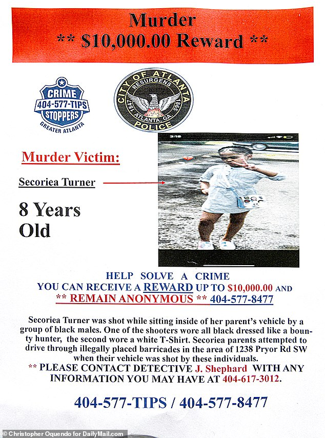 Atlanta police are offering a $10,000 reward to anyone with information leading to arrests in the case