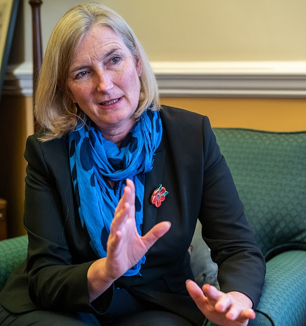 Another alleged target was Sarah Wollaston (pictured), the former Conservative and Lib Dem MP, who before losing her seat was chairman of the liaison committee that had the ability to question the prime minister