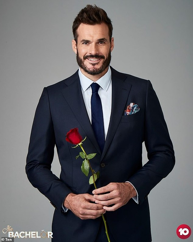 Roses at the ready! The Bachelor 's eighth season will premiere on Channel 10 next month. Pictured: suitor Locklan 'Locky' Gilbert