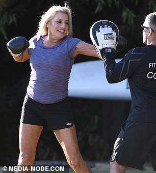 Confident: Marissa effortlessly executed jabs, upper cuts and cross punches
