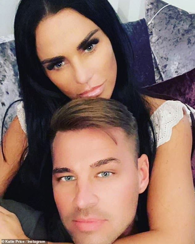 Smitten:Katie heaped praise on latest boyfriend Carl as the couple made their blossoming relationship Instagram official on Sunday evening