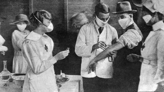 The Spanish Flu ravaged Australia in 1919, leaving 15,000 dead within a year of the first case in January, while killing 50 to 100million people worldwide Pictured: Inoculation at a special depot in Sydney's Hyde Park at the height of the epidemic