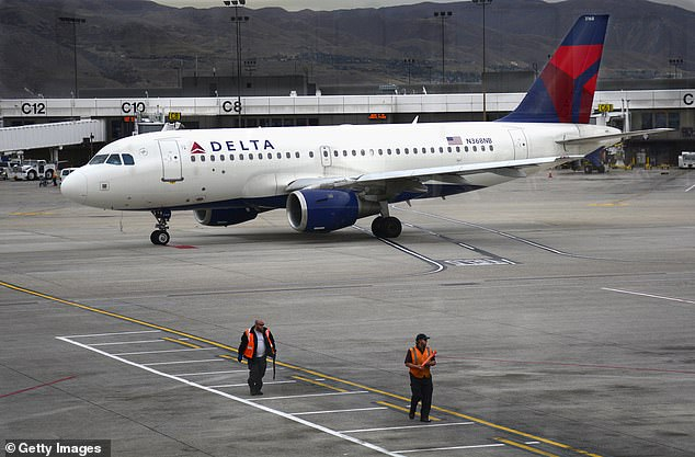 The aircraft was a Delta Airlines Airbus A319 - identical to the one pictured above. All 43 passengers were uninjured during the incident