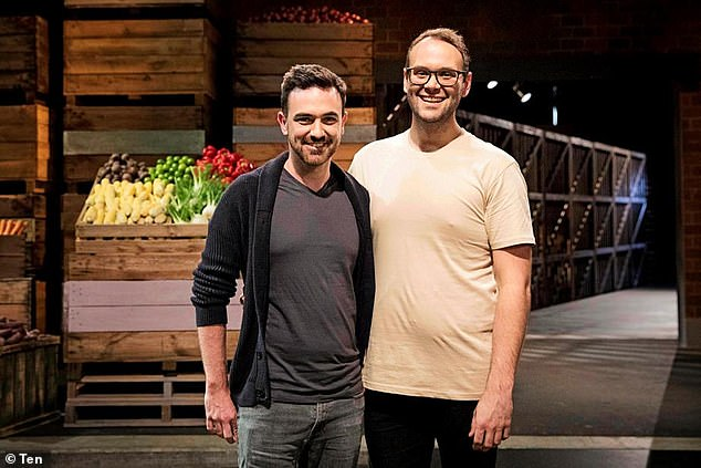 Supportive: Despite spending six months apart when Reece's was on MasterChef in 2018, Dene (left) 'was super excited' when his partner was invited to return for the Back to Win series