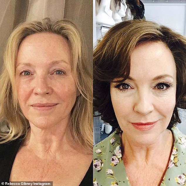 Age-defying:Packed To The Rafters star Rebecca has a glowing and taut visage that could easily make most women envious. Pictured left makeup free in 2015, age 50