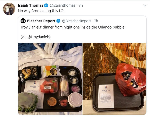 Point guard Isaiah Thomas laughed at the notion of ex-team-mate LeBron James eating this