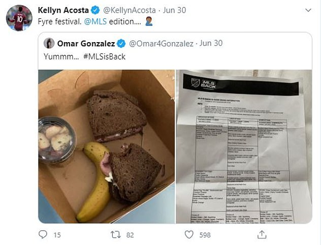 After Gonzalez shared the image of his disappointing meal, several others followed suit