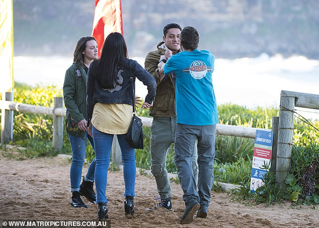 Back to business: Home and Away resumed filming on May 25 at the Seven Network studios in Eveleigh, Sydney after adopting coronavirus safety measures