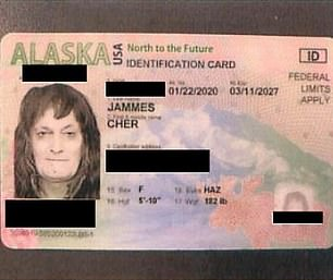 Pictured is the ID Gardner got in January after cops contacted him in December on weapons charges