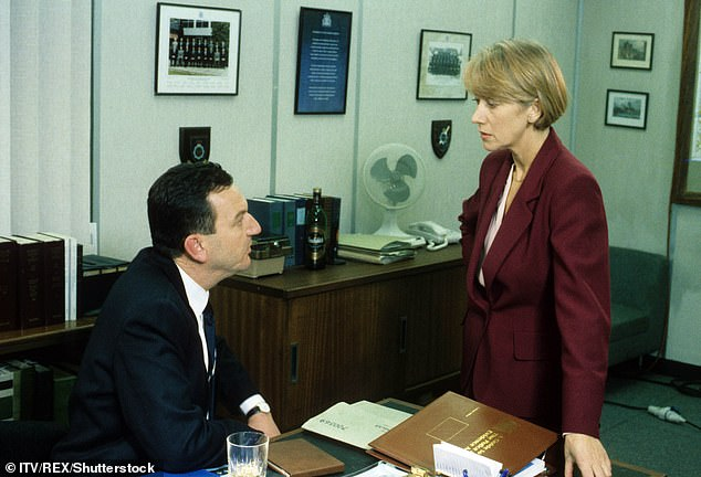 Groundbreaking show: Airing between 1991 and 2006, and saw Helen's DCI Jane Tennison navigate the male-dominated profession with the support of her boss, played by John