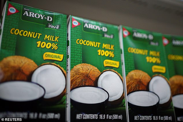 Coconut products are pictured at a supermarket in Bangkok, Thailand, on Monday July 6