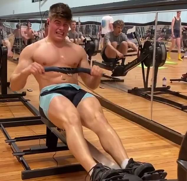 Arthur Chatto in training for the Round Britain rowing expedition. Hehas finally hit the waters to raise £15,000 for the Red Cross and Just One Ocean charities