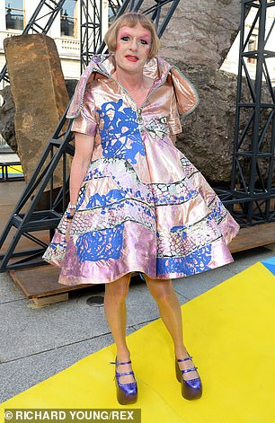 Grayson Perry at the Royal Academy of Arts Summer Exhibition Preview Party in London in June 2018