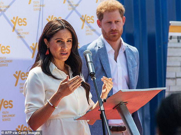 It follows the royal couple, pictured in October last year, being requested to drop their HRH styles, before their move to Canada and Los Angeles thereafter