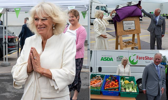 Prince Charlesand Duchess of Cornwall visit Asda distribution centre