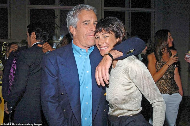 Ghislaine Maxwell will be 'naming names' and 'fully co-operating' with the FBI and Prince Andrew is among those 'very worried' about what she might reveal, a former associate of Jeffrey Epstein has claimed (Epstein and Maxwell are pictured together in New York in 2005)