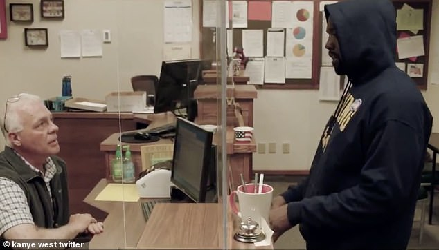 Discussion: The rapper then continued to speak to the receptionist about why other states make the vote complicated.