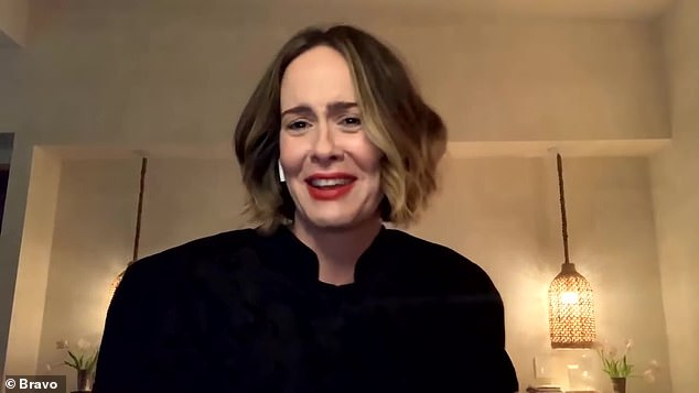 Keeping quiet: Sarah Paulson dodged a question about Lea Michele on Thursday after the recent scandal which saw the Glee actress accused of bullying and unpleasant behavior on set