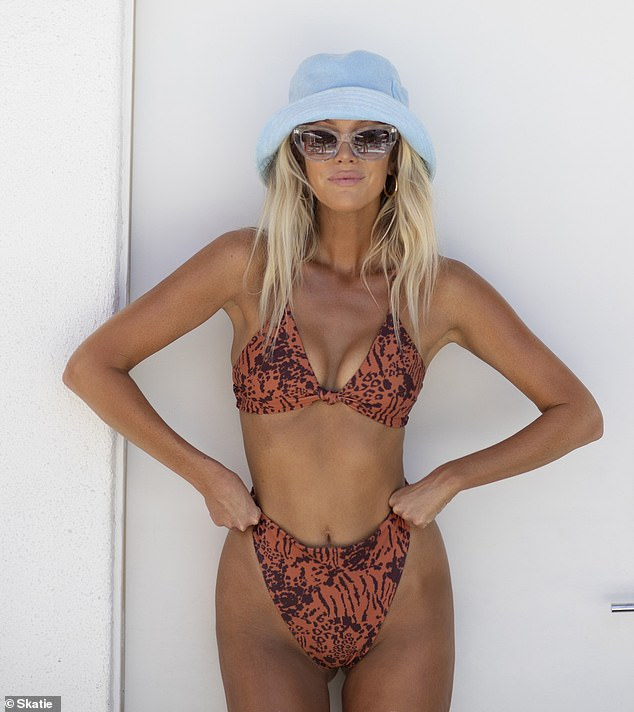 Social media star Halley Elefante (aka The Salty Blonde) has partnered up with LA swim and active brand Skatie on a swimwear collection for the girl next door