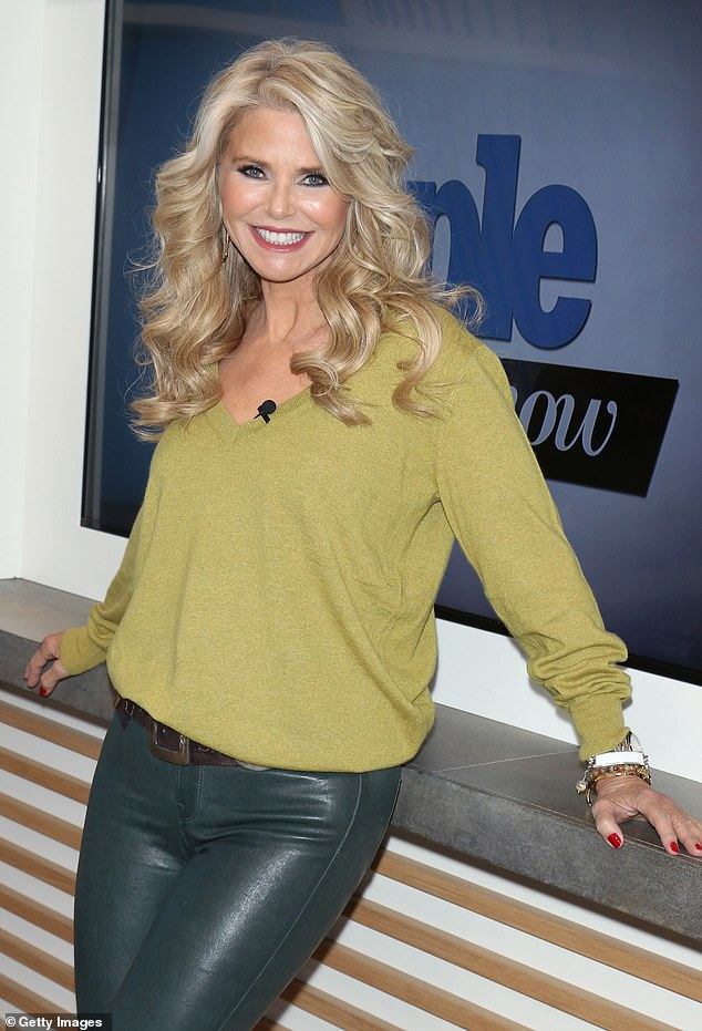 Shedding: Christie Brinkleyrevealed she 'put on a couple pounds' in recent months while staying at home but is dedicated to getting back into shape, while speaking to Extra on Friday