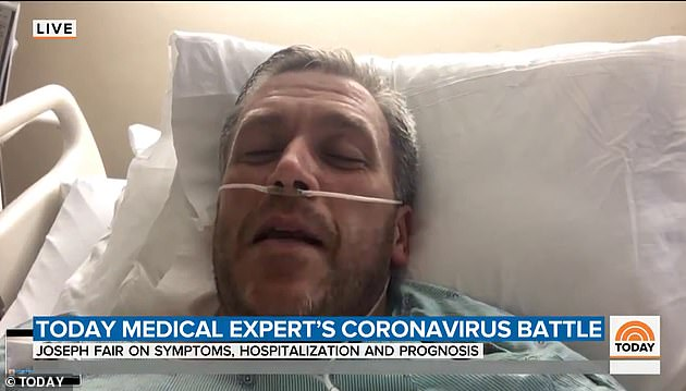 Fair spoke to the Today show on May 14 from his hospital bed, describing his ordeal