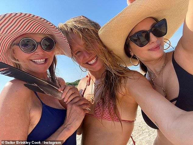 Celebrating:The crew recently took a boat out from their Hamptons home to a deserted beach to celebrate Sailor's 22nd birthday