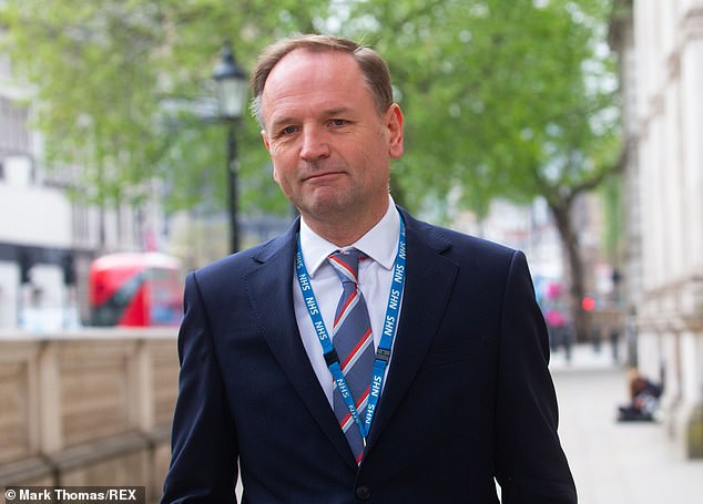 It comes amid government frustration at the role of the health service's chief executive Simon Stevens during the coronavirus pandemic