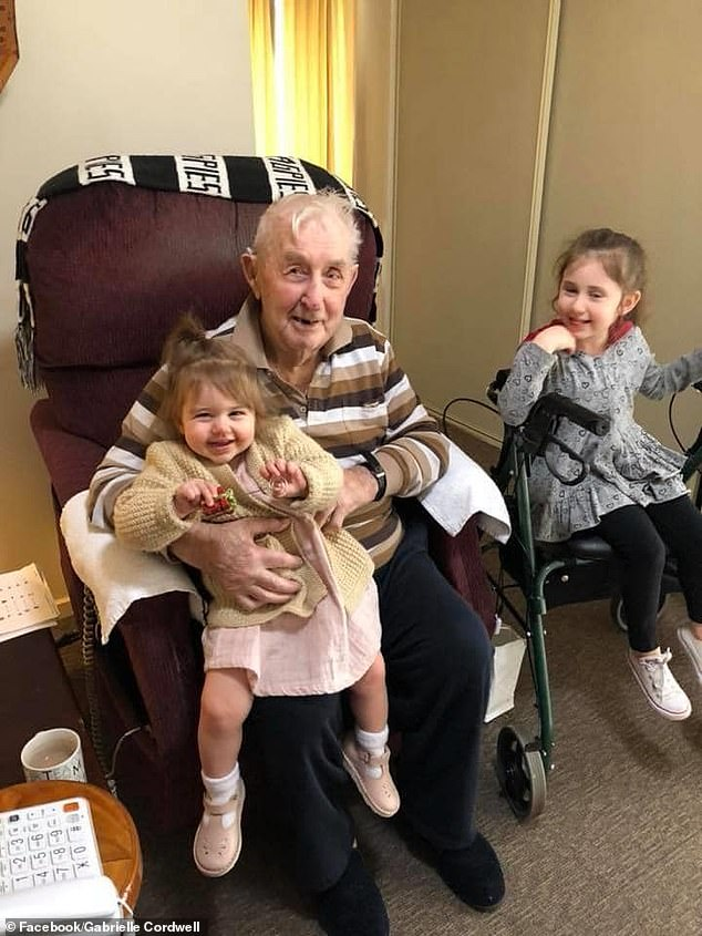 `` It is with a heavy heart that I say, today Alf lost his fight against Covid, '' wrote his granddaughter Gabrielle