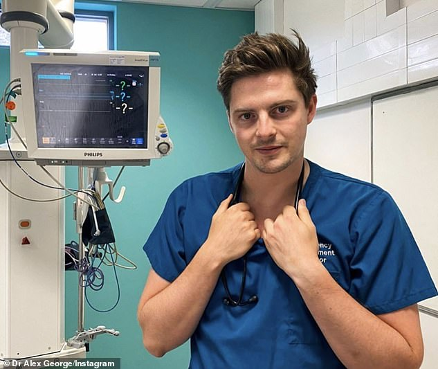 Heroic:Alex found fame on Love Island 2018 but has returned to his job as an A&E doctor since, working on the NHS frontline during the COVID-19 pandemic