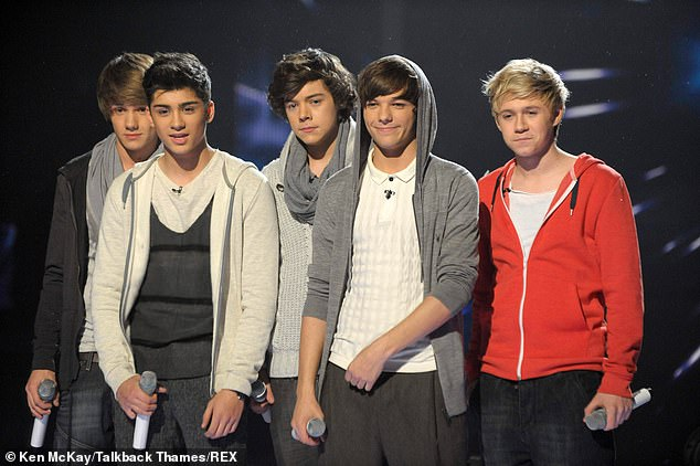 Start:Louis began working with Syco in One Direction, the group reportedly signed a contract worth £2 million (pictured L-R:Liam Payne, Niall Horan, Harry Styles, Louis and Zayn Malik)