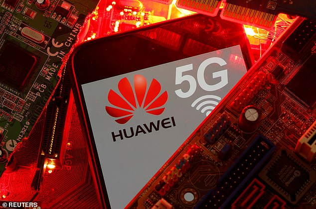 The warning comes as the Government prepares to formally announce a U-turn that would block Huawei from helping build Britain's superfast 5G mobile network (file photo)