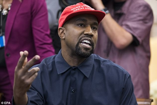 Elections: Kanye announced his decision to run for president over Twitter over the weekend (pictured in 2018)